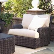 Woodard Aruba Lounge Chair; Sunbrella Bamboo Natural