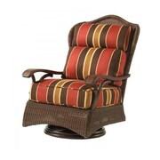 Woodard Chatham Swivel Lounge Rocking Chair w/ Cushions; Sunbrella Sailcloth Salt