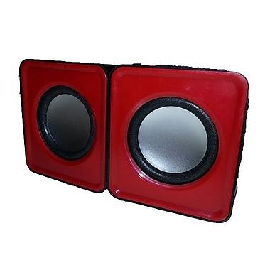 MMNOX 324R Portable USB Speakers, Red (SP-MX-HM324R)