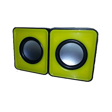 MMNOX 324Y Portable USB Speakers, Yellow (SP-MX-HM324Y)