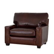 Westland and Birch Kenmore Studio Genuine Top Grain Leather Club Chair; Brompton Brown