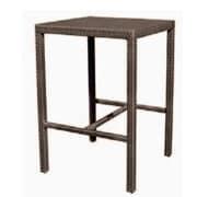 Woodard All-Weather Miami Square Counter Table; Mocha
