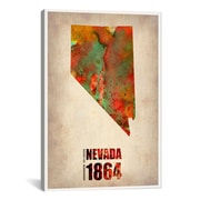 iCanvas Nevada Watercolor Map by Naxart Graphic Art on Wrapped Canvas; 26'' H x 18'' W x 1.5'' D