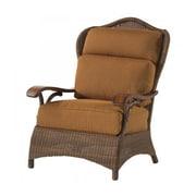 Woodard Chatham Lounge Chair; Sunbrella Bamboo Natural