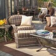 Woodard River Run Lounge Chair; Sunbrella Bamboo Natural