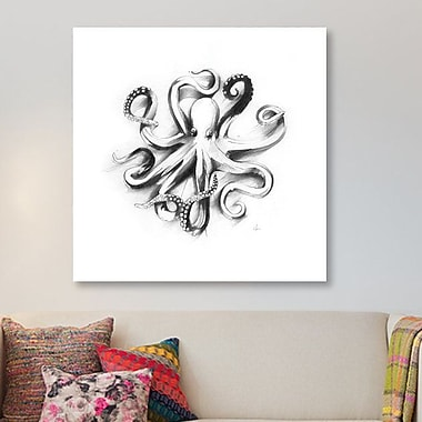 East Urban Home 'Flat Octopus' Painting Print on Canvas; 12'' H x 12'' W x 0.75'' D