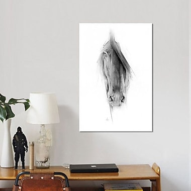 East Urban Home 'Horse 2023' Painting Print on Canvas; 40'' H x 26'' W x 0.75'' D