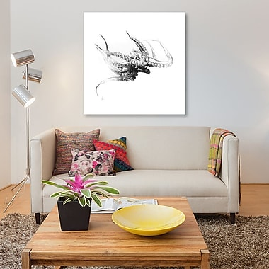 East Urban Home 'Octopus Rubescens' Painting Print on Canvas; 48'' H x 48'' W x 1.5'' D