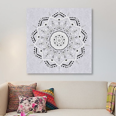 East Urban Home 'Star Mandala' Graphic Art Print on Canvas; 12'' H x 12'' W x 1.5'' D
