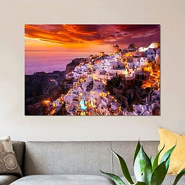 East Urban Home 'The White City' Graphic Art Print on Canvas; 18'' H x 26'' W x 1.5'' D