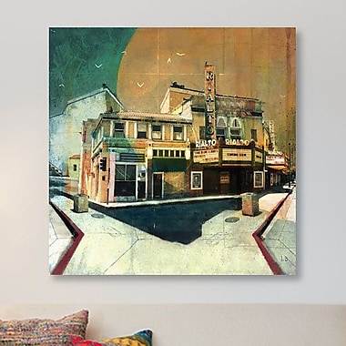 East Urban Home 'Rialto' Graphic Art Print on Canvas; 37'' H x 37'' W x 1.5'' D