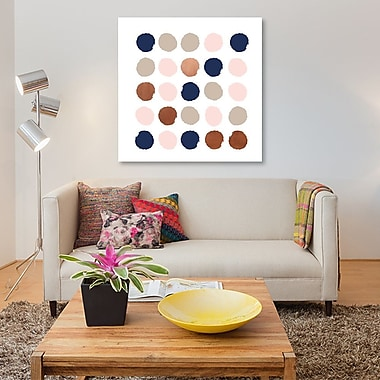 East Urban Home 'Skadi Dots' Painting Print on Canvas; 18'' H x 18'' W x 1.5'' D
