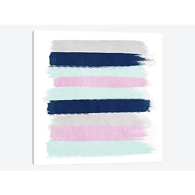 East Urban Home 'Berti Stripes' Painting Print on Canvas; 18'' H x 18'' W x 1.5'' D