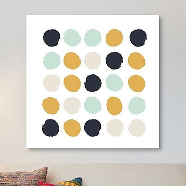 East Urban Home 'Tinsley Dots' Painting Print on Canvas; 12'' H x 12'' W x 1.5'' D