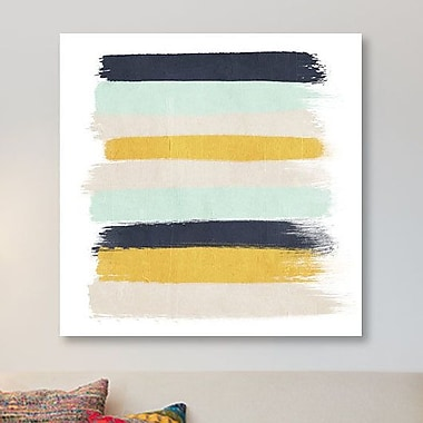 East Urban Home 'Tinsley Stripes' Painting Print on Canvas; 18'' H x 18'' W x 0.75'' D