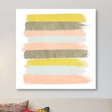 East Urban Home 'Upton Stripes' Graphic Art Print on Canvas; 12'' H x 12'' W x 1.5'' D
