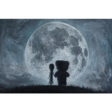 East Urban Home 'Take Me to the Moon' Graphic Art Print on Canvas; 26'' H x 40'' W x 0.75'' D