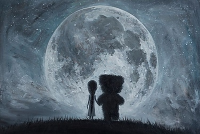 East Urban Home 'Take Me to the Moon' Graphic Art Print on Canvas; 12'' H x 18'' W x 0.75'' D