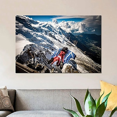 East Urban Home 'Aiguille du Midi; Mont Blanc Massif; French Alps I' Photographic Print on Canvas