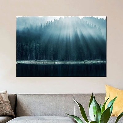 East Urban Home 'Morning Glory I' Graphic Art Print on Canvas; 26'' H x 40'' W x 0.75'' D