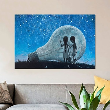 East Urban Home 'The Night We Broke the Moon' Graphic Art Print on Canvas; 18'' H x 26'' W x 1.5'' D