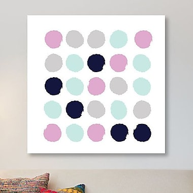 East Urban Home 'Berti Dots' Painting Print on Canvas; 18'' H x 18'' W x 1.5'' D
