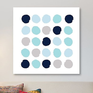 East Urban Home 'Riley Dots' Painting Print on Canvas; 26'' H x 26'' W x 1.5'' D