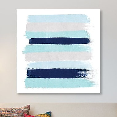 East Urban Home 'Riley Stripes' Painting Print on Canvas; 12'' H x 12'' W x 0.75'' D