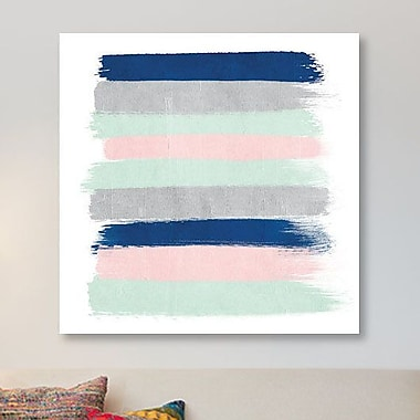 East Urban Home 'Ostara Stripes' Graphic Art Print on Canvas; 18'' H x 18'' W x 1.5'' D