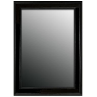 Darby Home Co Retangle Black Framed Accent Wall Mirror; 46'' H x 36'' W x 0.75'' D