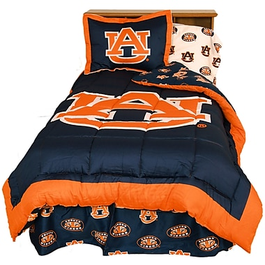 College Covers NCAA Auburn Reversible Comforter Set; Twin