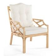 Bayou Breeze Margrett Rattan Arm Chair; Natural