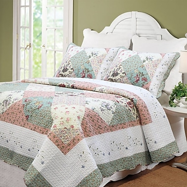 Cozy Line Home Fashion Celia Quilt Set; Full/Queen