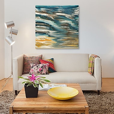 East Urban Home 'Wave Reflections' Painting Print on Canvas; 37'' H x 37'' W x 1.5'' D