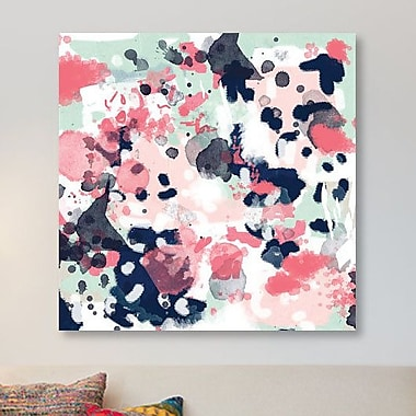 East Urban Home 'Loral' Graphic Art Print on Canvas; 12'' H x 12'' W x 1.5'' D