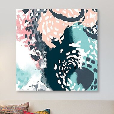 East Urban Home 'August' Graphic Art Print on Canvas; 18'' H x 18'' W x 0.75'' D