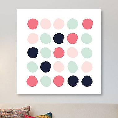 East Urban Home 'Loral Dots' Graphic Art Print on Canvas; 48'' H x 48'' W x 1.5'' D