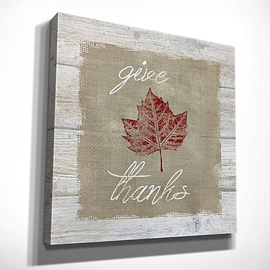 August Grove 'Give Thanks' Oil Painting Print on Wrapped Canvas; 24'' H x 24'' W x 1.5'' D