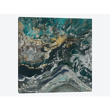 East Urban Home 'Ripple Effect Azure' Painting Print on Canvas; 48'' H x 48'' W x 1.5'' D