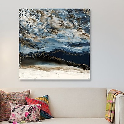 East Urban Home 'Midnight Wave' Graphic Art Print on Canvas; 37'' H x 37'' W x 1.5'' D