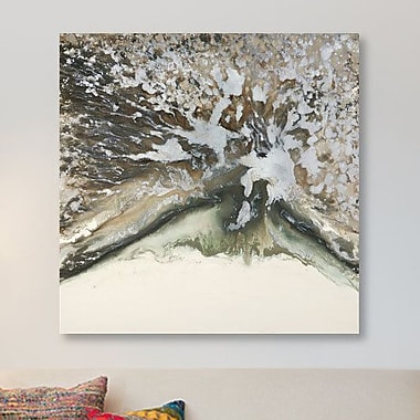 East Urban Home 'Whisper' Painting Print on Canvas; 37'' H x 37'' W x 1.5'' D