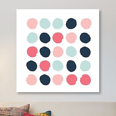 East Urban Home 'Isla Dots' Graphic Art Print on Canvas; 48'' H x 48'' W x 1.5'' D
