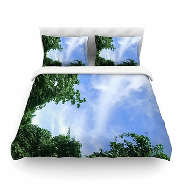 East Urban Home Nick Nareshni Forest in the Sky Photography Featherweight Duvet Cover; King