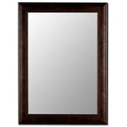 August Grove Copper Petite Framed Accent Wall Mirror; 42'' H x 30'' W x 0.75'' D