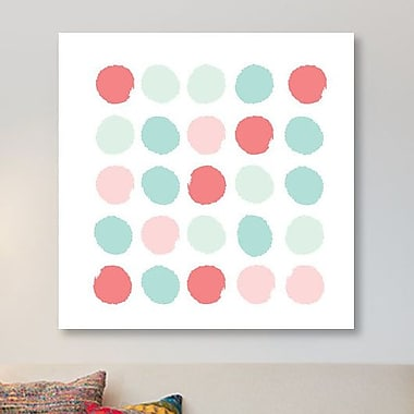 East Urban Home 'Florence Dots' Graphic Art Print on Canvas; 48'' H x 48'' W x 1.5'' D