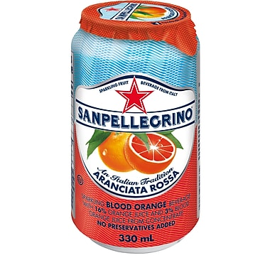San Pellegrino – Boisson au fruits pétillante, orange sanguine, canette, paq./24
