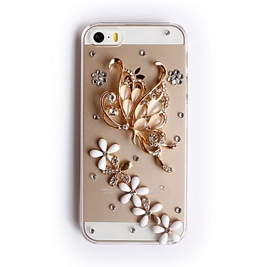 Zanko Gem Cell Phone Fitted Case for Apple iPhone 5S, Butterfly Love (ZKH-IP5-RBF)