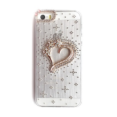 Zanko Gem Cell Phone Fitted Case for Apple iPhone 5S, Heart Flowers (ZKH-IP5-RHF)
