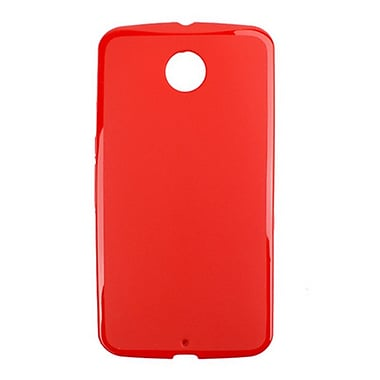 Zanko TPU Cell Phone Fitted Case for Google Nexus 6, Red (ZKT-NX6-RD)