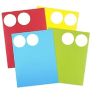 "JAM Paper® Round Circle Label Sticker Seals, 2.5"" diameter, Assorted Bright Colours, 4/Packs of 120 (147628assrt)"